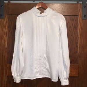 Vintage white Christie and Jill blouse